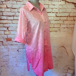 Pink Ombré Beach Cover Up